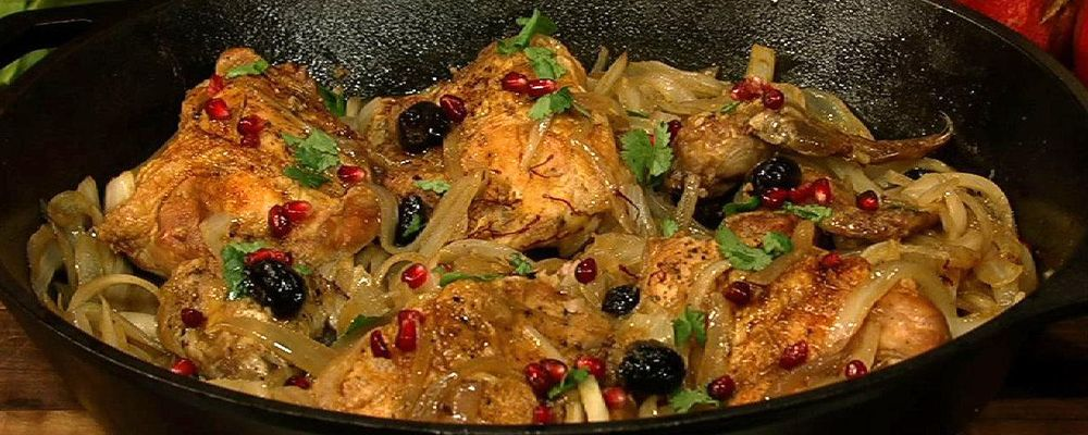 Mom\'s Chicken with Saffron and Onions