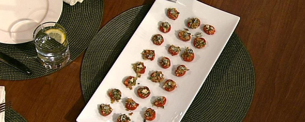 Carla Hall\'s Roasted Cherry Tomatoes with Blue Cheese