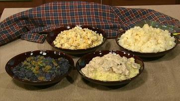 Carla Hall\'s Mashed Potatoes with Mushroom Sour Cream Gravy