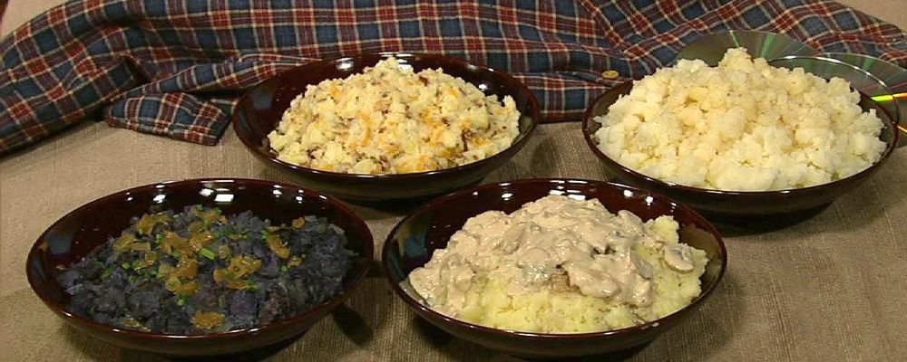 Daphne Oz\'s Purple Mashed Potatoes with Rosemary and Caramelized Onions