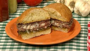 Bleu Cheese Pocket Burgers