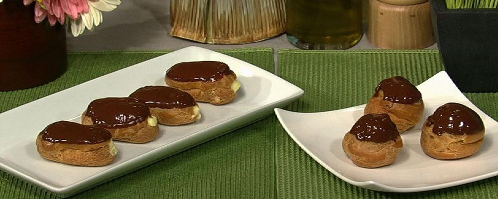 Carla Hall\'s Eclairs with Hazelnut Creme