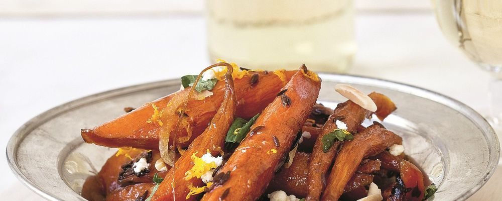 Roasted Carrots with Feta and Mint