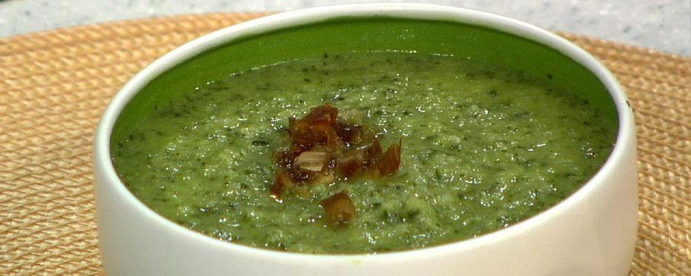 Daphne Oz\'s Creamy Cauliflower Soup with Greens