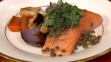 Atlantic Salmon with Lentils