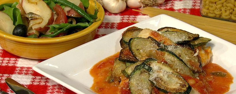 Skillet Gratinate of Zucchini and Chicken