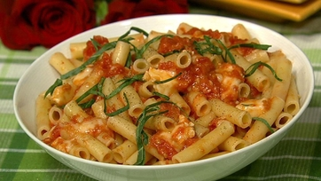 Pasta with Oven Dried Tomatoes