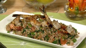 Grilled Shrimp with Grapefruit Salad