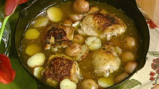 Braised Chicken with Potatoes and Tarragon