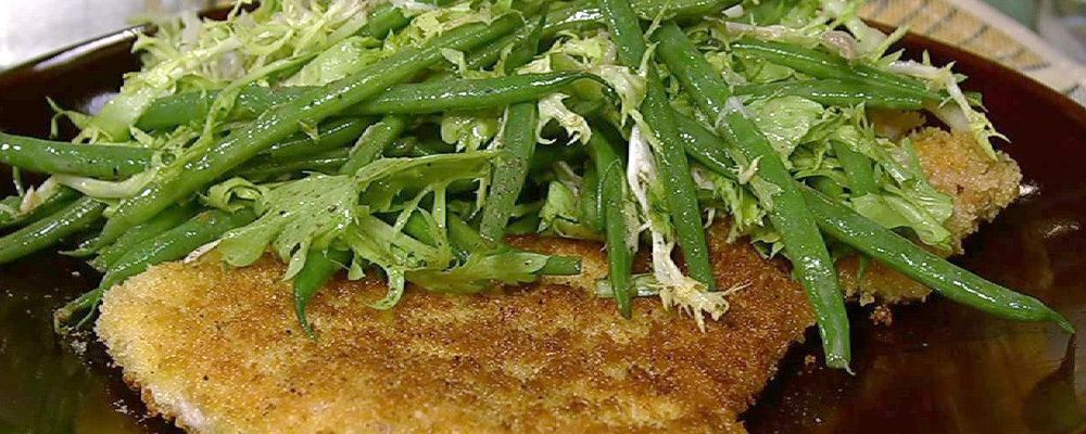Pork Schnitzel with Green Beans and Frisee