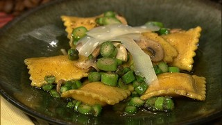 Ravioli with Asparagus and Morels