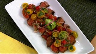 Rib-Eye with Tomato Salad