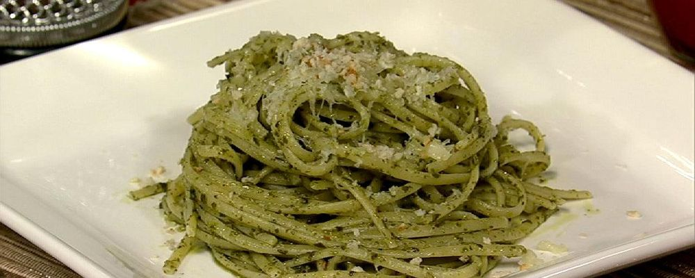 Trenette with Jalapeno Pesto