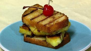 Grilled Pineapple Upside Down Sandwich