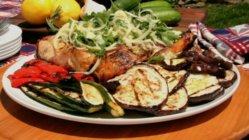 Chicken Gina with Grilled Vegetables