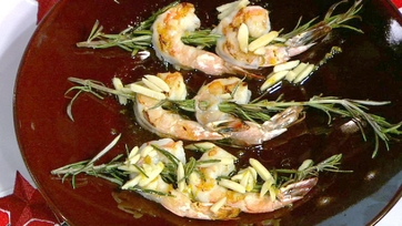 Rosemary Shrimp with Almonds