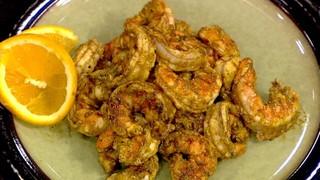 Monster Shrimp with Orange Chili Glaze