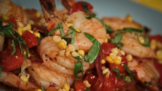 Michael Symon\'s Shrimp with Corn and Basil