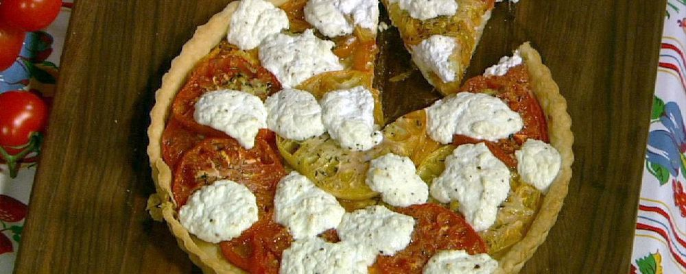 Michael Symon\'s Heirloom Tomato and Ricotta Tart