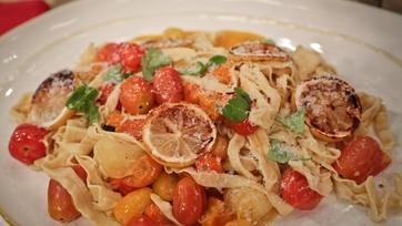 Fabio Viviani\'s Fettucini with Roasted Lemon, Tomato and Parmesan
