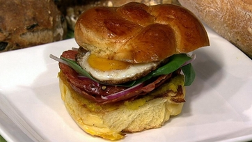 Michael Symon\'s Salami and Egg Sandwich