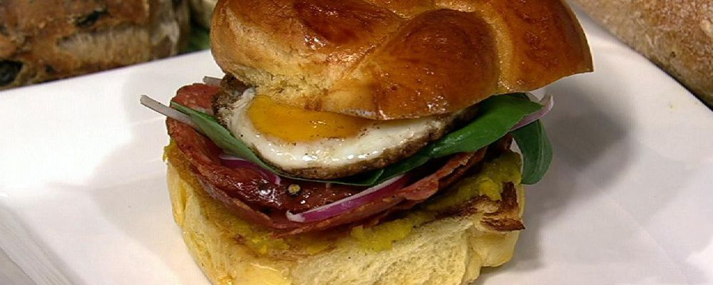 Michael Symon\'s Salami and Egg Sandwich