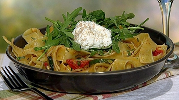 Clinton Kelly\'s Pappardelle with Summer Vegetables and Ricotta