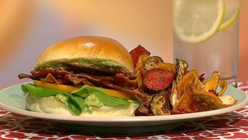 Mario Batali\'s BLT and Celery Root Chips
