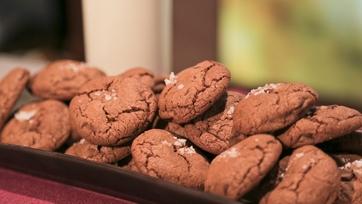 Michael Symon\'s Chocolate Chocolate Chip Cookies with Sea Salt