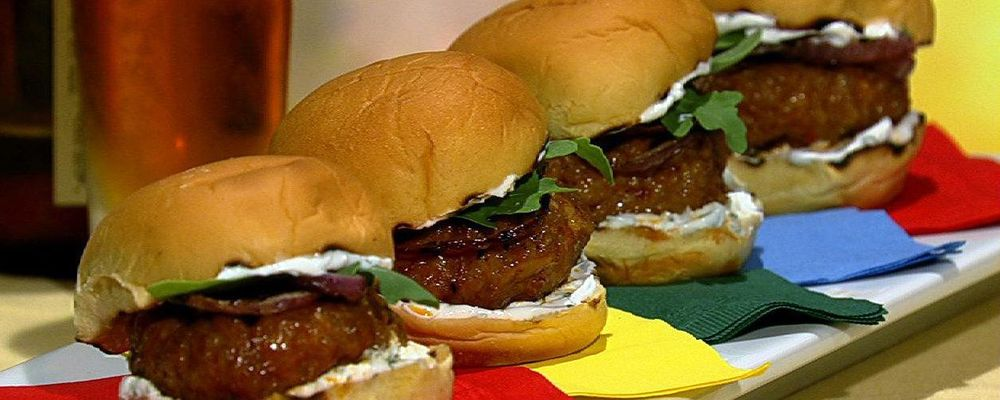 Michael Symon\'s Spicy Sausage Sliders