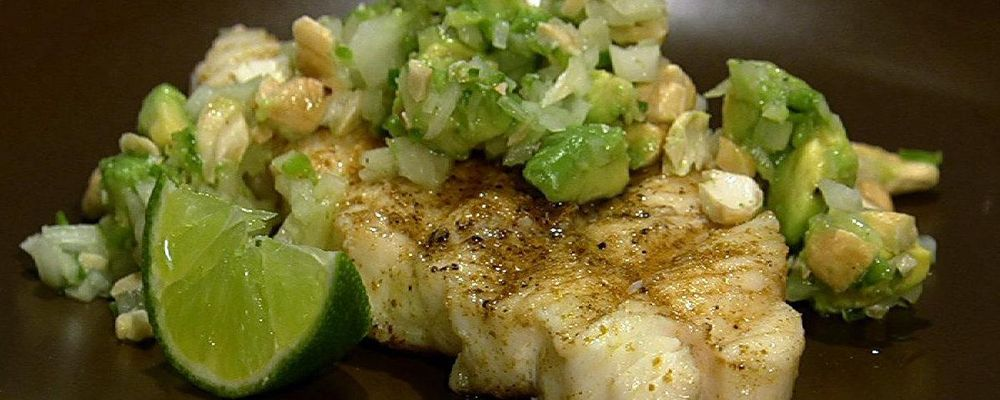 Daphne Oz\'s Grilled Halibut with Avocado Relish