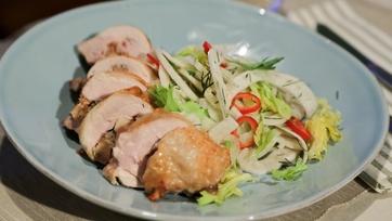 Stuffed Chicken Porchetta-Style