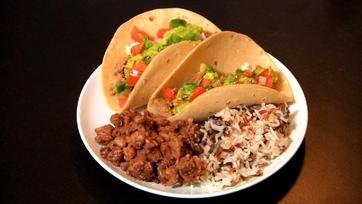Erik Valdez\'s Tacos with Pico De Gallo and Guacamole