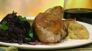 Pork Chops and Apple Compote