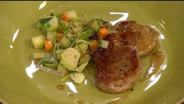 Pork Scallopini with a Brussel Sprout Hash