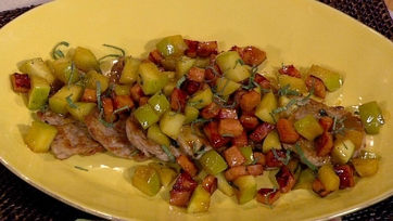 Michael Symon\'s Pork and Apple Scallopini