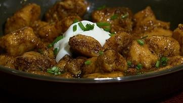 Mario Batali\'s Sweet Potato Dumplings with Red Eye Gravy