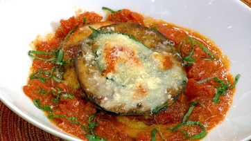 Lidia Bastianich\'s Chicken Breast with Eggplant and Fontina Cheese
