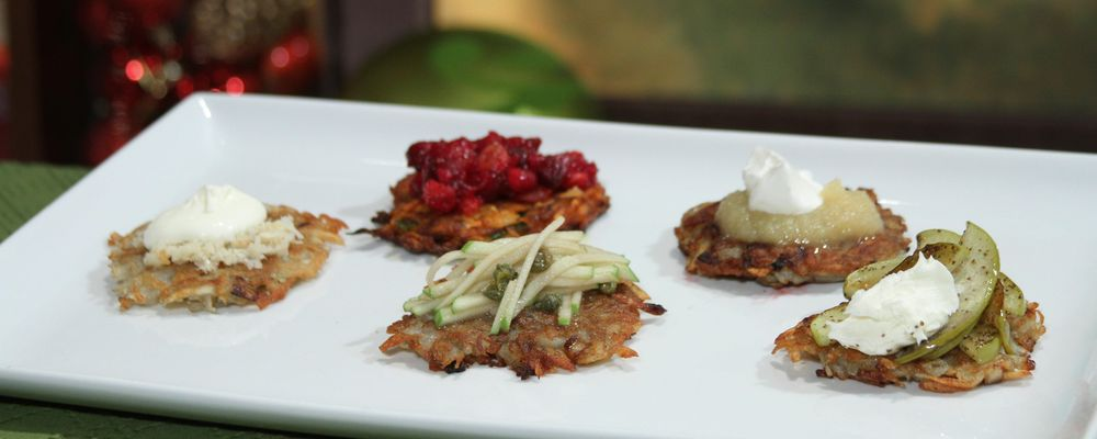 Sweet Potato Latkes with Cranberry Chutney