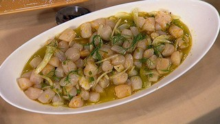 Mario Batali\'s Raw Bay Scallops with Grapefruit and Jalapenos