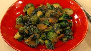 Curtis Stone\'s Brown Butter, Thyme and Honey Caramelized Brussels Sprouts