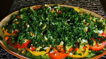 Tomato and Herb Salad with Two Dressings