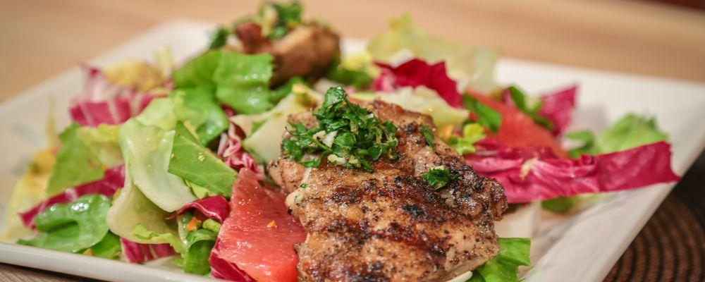 Michael Symon\'s Brick Chicken with Radicchio Salad