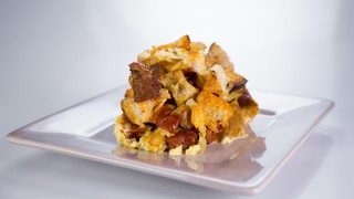 Chorizo and Manchego Strata