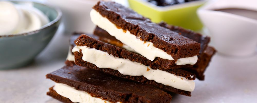 Carla Hall\'s Brownie Ice Cream Dippers