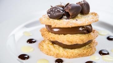 Jacques Torres\' Chocolate Coconut Napoleon