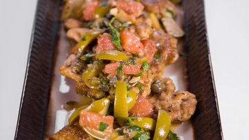 Mario\'s Chicken Saltimbocca with Capers and Grapefruit