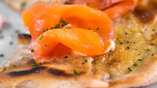 Mario Batali\'s Smoked Salmon Pizza