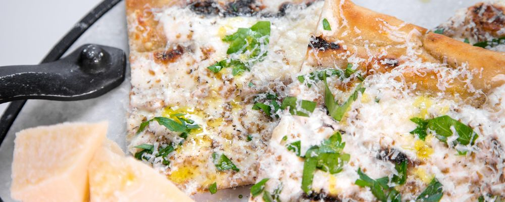 Mario Batali\'s Parmigiano Pizza with Black Truffles