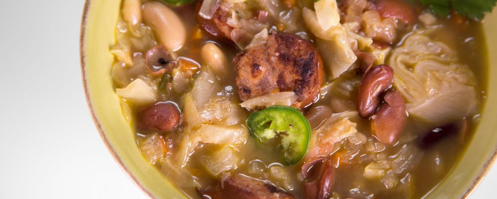 Michael Symon\'s Kielbasa and Bean Stew